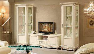 set bufet tv jepara klasik modern mahogany duco bt-194