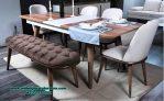 Set kursi makan retro minimalis dining room Smm-391