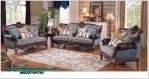 Set sofa tamu kayu jati mewah kualitas mebel Jepara Sst-411