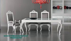 Meja makan 6 kursi duco mewah luxury minimalis Smm-402