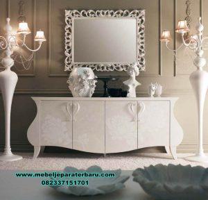 jual produk meja konsul modern mewah putih duco cassandra mrk-188