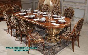 set meja makan jati klasik mewah ukiran prambanan smm-415