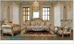 sofa ruang tamu klasik alexandra jati mewah terbaru sst-424