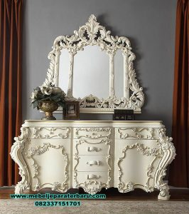model dresser table console mewah ukir mrk-205