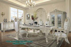 model meja makan duco 8 kursi mewah davinci terbaru smm-429