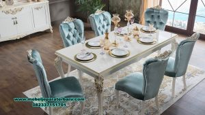 set meja makan duco modern mahoni smm-438