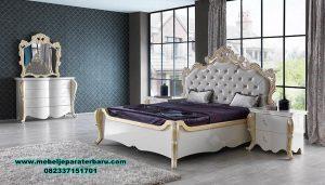 Desain set tempat tidur luks klasik ukir alamanda Stt-293