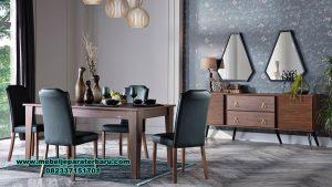 Set meja makan diego minimalis kayu jati Smm-447