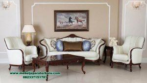 set sofa ruang tamu model klasik jati terbaru sst-464