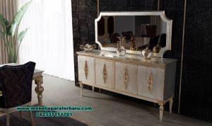 Meja konsul mewah duco model terbaru kayu mahoni Mrk-153
