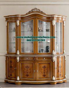 Desain lemari hias kayu jati mewah bella aldama Lh-058