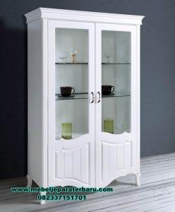 Lemari hias model minimalis putih good idea Lh-057