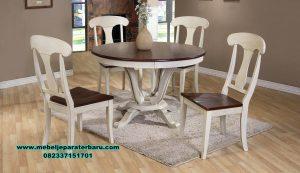 meja makan set model antik minimalis smm-357