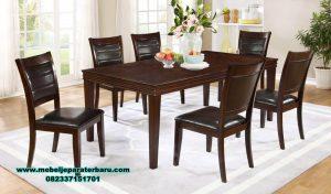 Set meja makan jati 6 kursi modern minimalis santana Smm-367