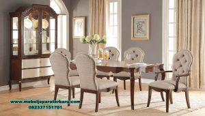Set meja makan kayu jati minimalis squidword Smm-363