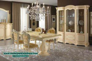 Set meja makan mewah klasik eropa regina slonov Smm-368