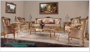 Set sofa tamu louis gold klasik modern Jepara Sst-381