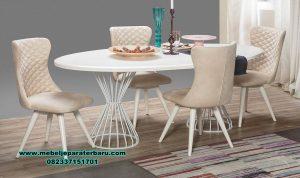 gambar meja makan modern putih mebel jepara smm-371