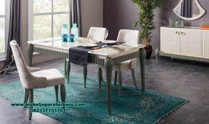 set meja makan apartemen modern zumrut odasi smm-372