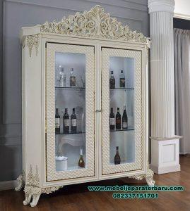 lemari pajangan kaca klasik mewah salma Lh-077
