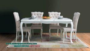 Meja makan zafran duco mewah terbaru mahoni berkualitas Smm-387