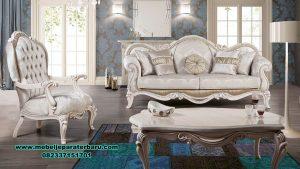 model sofa ruang tamu klasik modern duco finishing sst-403