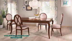 Set meja makan jati klasik valentino Smm-384