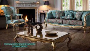 Set sofa ruang tamu modern gold classic mewah paris Sst-392