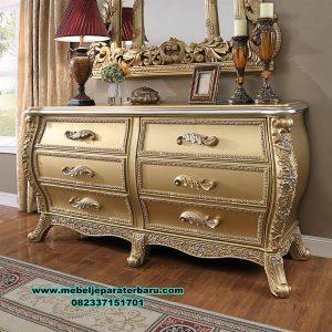 gambar meja konsul mewah ukiran gold duco kualitas terbaik Mrk-173