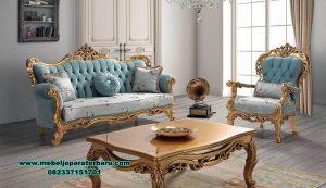kursi tamu set klasik gold luxury mewah sst-405