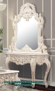 meja konsul dan cermin duco mewah alexaviera ukir mrk-176