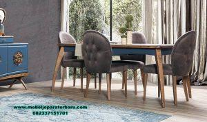 meja makan modern retro kayu jati smm-388
