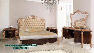 Set kamar tidur mewah klasik kayu jati trend 2020 Stt-237