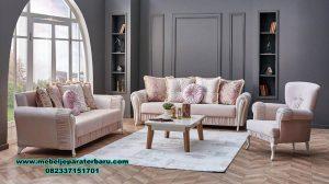 set sofa ruang tamu modern rangka jati jepara sst-409