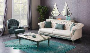 Set sofa tamu minimalis zumrut koltuk model modern Sst-407
