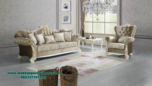Sofa tamu modern putih duco mahogany mewah Sst-408