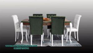 set meja kursi makan minimalis modern furniture jepara terbaru smm-400