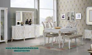 set meja kursi makan modern duco lavana mewah smm-409