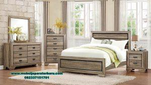 tempat tidur set kayu model minimalis ivanna stt-265