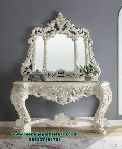 gambar set meja konsul duco putih clarissa mrk-201