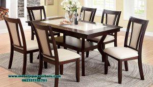 harga 1 set meja makan jati modern minimalis vario smm-419