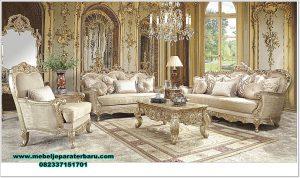 inspirasi living room set sofa model klasik mewah sst-435