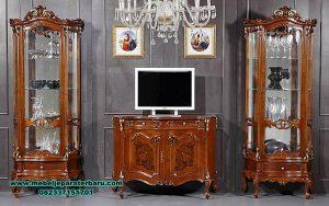 set bufet tv mewah carroline kayu jati klasik bt-195