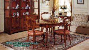 set meja makan klasik sederhana bubutan smm-426