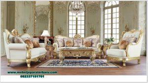 set sofa ruang tamu malika exclusive gold duco mewah sst-438