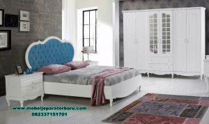 desain set tempat tidur modern white duco stt-273