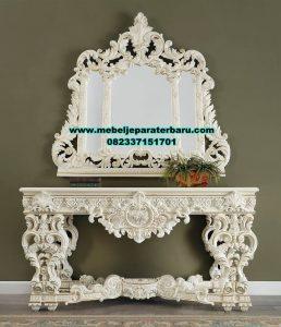 set meja console rias ukiran kayu mahoganny duco mrk-204