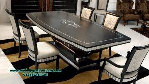 set meja makan minimalis duco black mewah smm-439