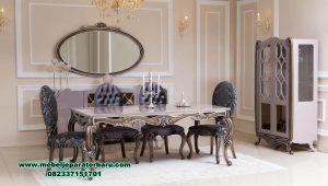 1 set meja makan kursi 6 klasik mewah duco smm-446