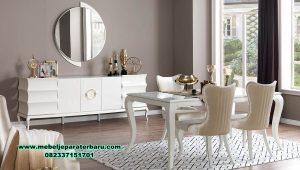 meja makan bianco modern duco mewah smm-443